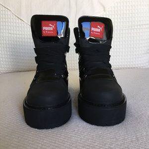 huge discount dc300 b4d9d Rihanna SB Black Eyelet Boots ( Men/Unisex ) Boutique